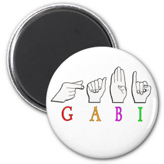 GABI FINGGERSPELLED NAME ASL SIGN MAGNET