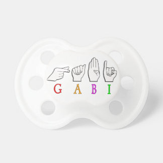 GABI FINGGERSPELLED NAME ASL SIGN PACIFIER