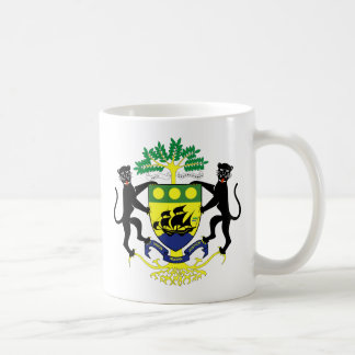 Gabon coat of arms coffee mug