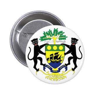 Gabon Coat of arms GA 2 Inch Round Button
