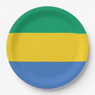 Gabon Flag 9 Inch Paper Plate