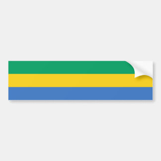 Gabon Flag Bumper Sticker