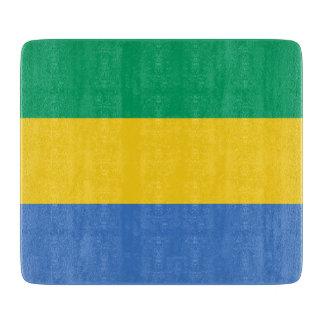 Gabon Flag Cutting Board