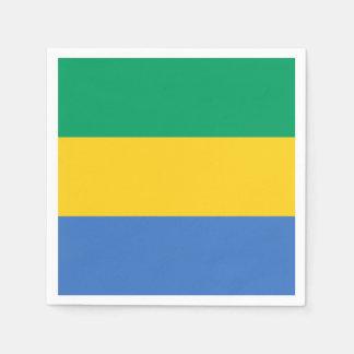 Gabon Flag Disposable Napkin