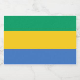 Gabon Flag Food Label
