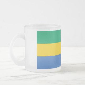 Gabon Flag Frosted Glass Coffee Mug