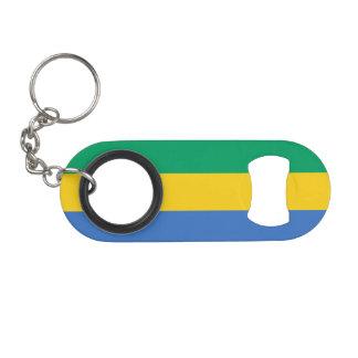 Gabon Flag Keychain Bottle Opener