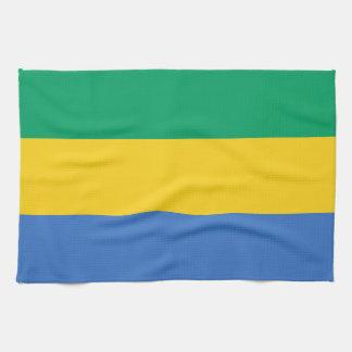 Gabon Flag Kitchen Towel