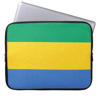 Gabon Flag Laptop Sleeve