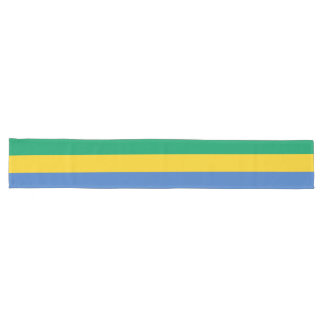 Gabon Flag Long Table Runner