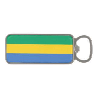 Gabon Flag Magnetic Bottle Opener