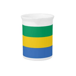 Gabon Flag Pitcher
