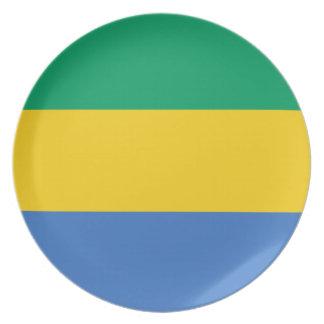 Gabon Flag Plate