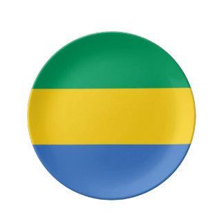 Gabon Flag Porcelain Plates
