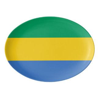 Gabon Flag Porcelain Serving Platter