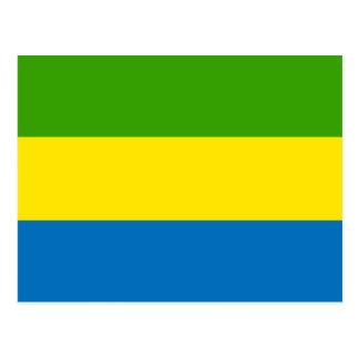 Gabon Flag Postcard