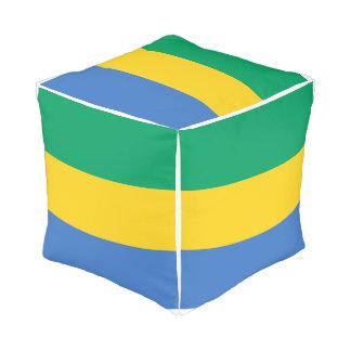 Gabon Flag Pouf