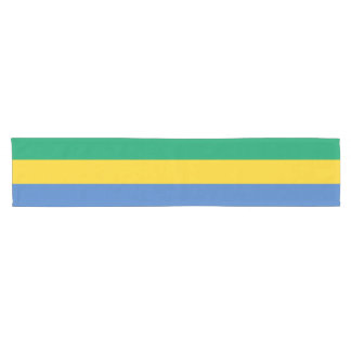 Gabon Flag Short Table Runner
