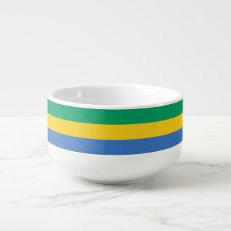 Gabon Flag Soup Bowl With Handle