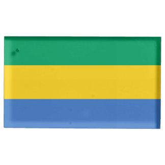 Gabon Flag Table Card Holders