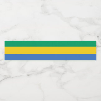 Gabon Flag Water Bottle Label