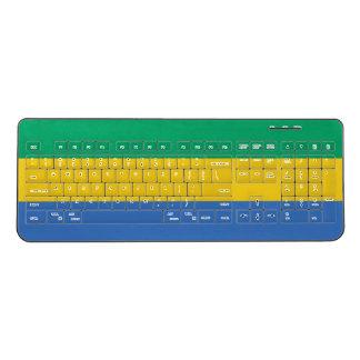 Gabon Flag Wireless Keyboard