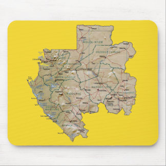 Gabon Map Mousepad
