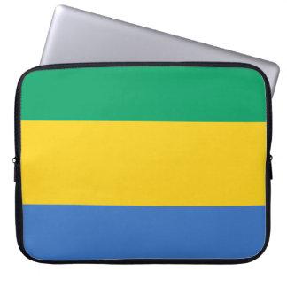 Gabon National World Flag Laptop Sleeve