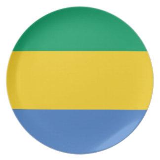 Gabon National World Flag Plate