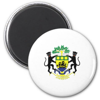 Gabon Official Coat Of Arms Heraldry Symbol 2 Inch Round Magnet