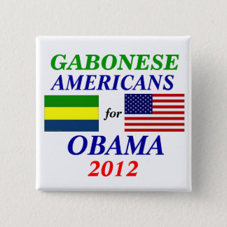 Gabonese americans for Obama 2 Inch Square Button
