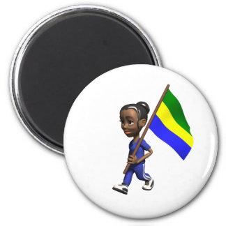 Gabonese Girl 2 Inch Round Magnet