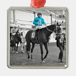 Gabriel Saez-Foxhall Drive Silver-Colored Square Ornament
