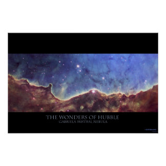 Gabriela Mistral Nebula Print