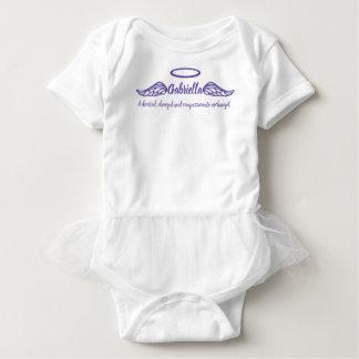 Gabriella girls name & meaning angel wings purple baby bodysuit