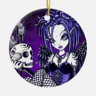 """""""Gabriella"""" Gothic Skull Angel Ornaments"""