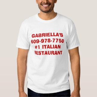 GABRIELLA'S609-978-7750#1 ITALIAN RESTAURANT  SHIRT