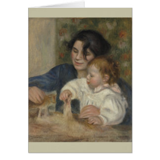 Gabrielle and Jean by Pierre-Auguste Renoir Card