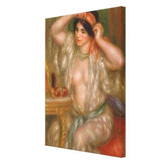 Gabrielle at the Mirror Canvas Print