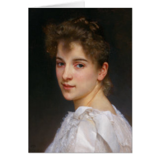 Gabrielle Cot by William Adolphe Bouguereau 1890 Card