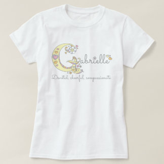 Gabrielle girls name decorative custom meaning T-Shirt