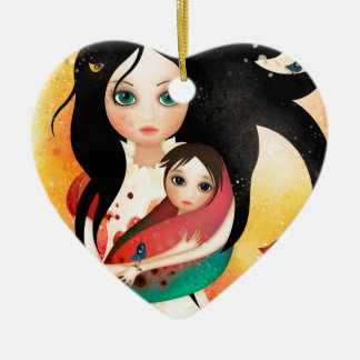 Gabriel's Mother Ceramic Heart Ornament