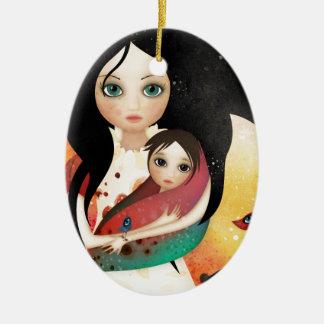 Gabriel's Mother Ceramic Oval Ornament