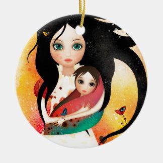 Gabriel's Mother Round Ceramic Ornament
