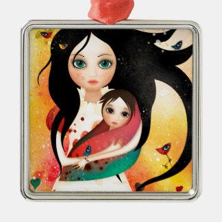 Gabriel's Mother Silver-Colored Square Ornament