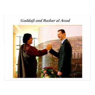 Gaddafi and Bashar al Assad Postcard