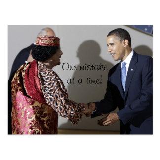 Gaddafi Gadhafi Obama One Mistake at the Time Postcard
