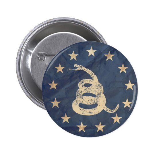 Gadsden and US 1776 Flag 2 Inch Round Button