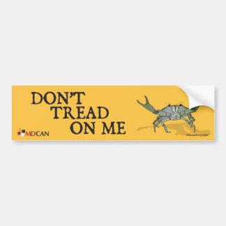 Gadsden Crab Bumper Sticker