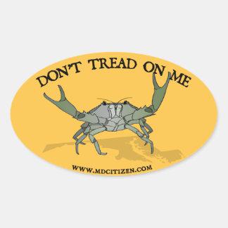 Gadsden Crab Oval Sticker